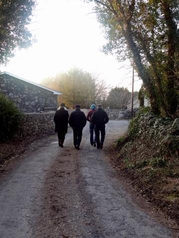 Walking toward the Homestead
