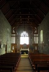 Inside Meelick church