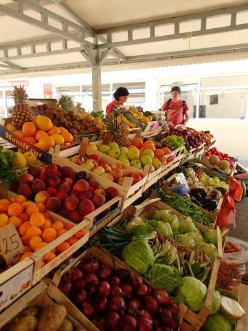 Wade buying some lovely veggies