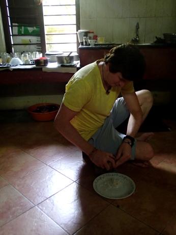 Shaving coconuts